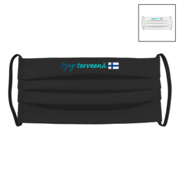 PYSY TERVEENÄ | Fabric facial mask (pleated)