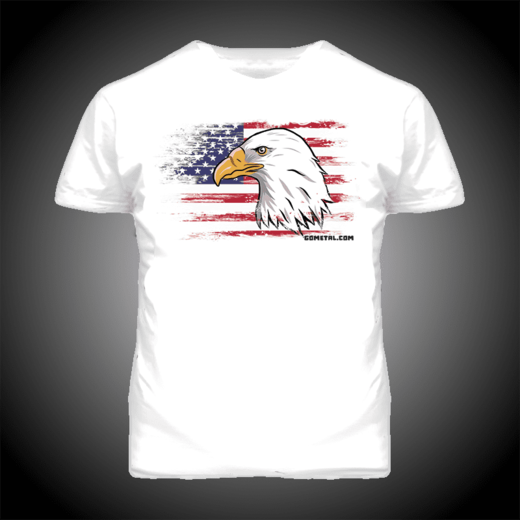 USA POWERLIFTING T-SHIRT (19019O)