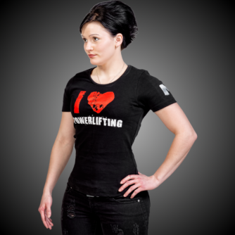 I LOVE POWERLIFTING  SLIM FIT T-SHIRT (13007O)