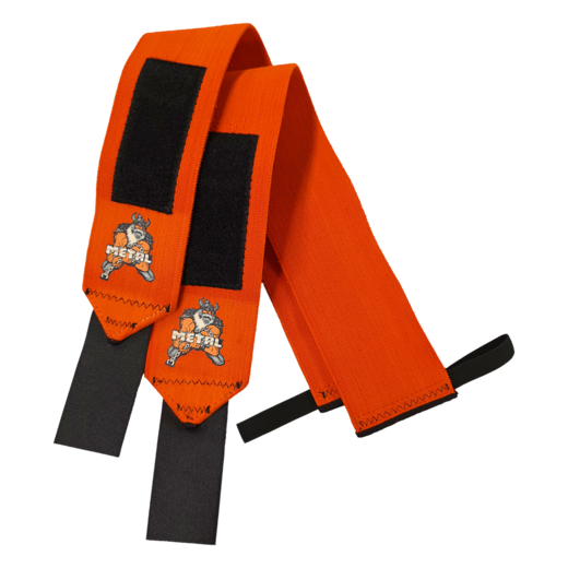 Orange Wrist Wraps (IPF approved) (15011)